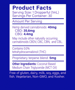 40mg Sublingual Product Facts